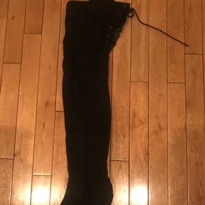 Shoes - Never worn black high heel boots